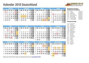 Kalender Mit Kw Kalender 2018 Mit Feiertagen Ferien Kalenderwochen
