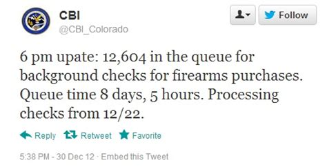 Colorado Cbi Background Check Co Background Check System Overwhelmed Wait Time 8 Days 5 Hours The About Guns