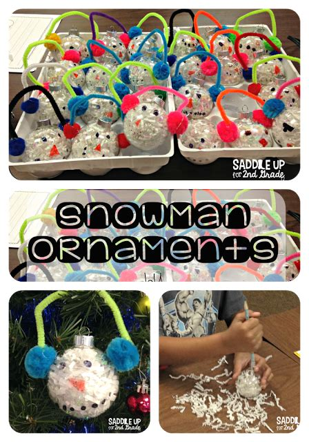 cristmas ornament projects for 2nd grade party snowman ornaments saddle up for 2nd grade