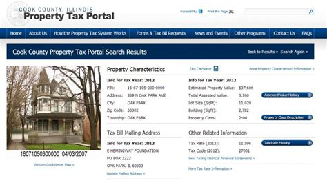 Cook County Illinois Property Tax Records Cook County Treasurer Complete Pdf Library