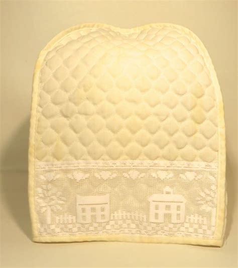 quilted kitchen appliance covers rue s kitsch quilted appliance cover sold the estate