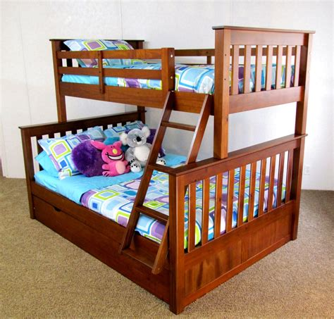 Bunk Bed Free Shipping Twin Over Full Bunk Bed Trundle Solid Wood Free Shipping