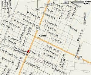 cuero map location