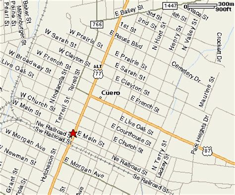 where is cuero texas on a texas map location