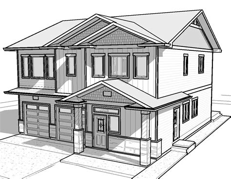 easy house drawings modern basic simple home plans