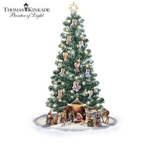 recycle christmas trees near me kinkade blessed nativity tree and ornament collection