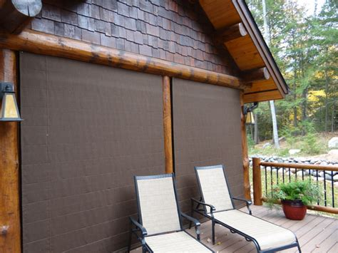 Outdoor Blinds For Porch Outdoor Shades Cover Screen Porch Rustic Shades