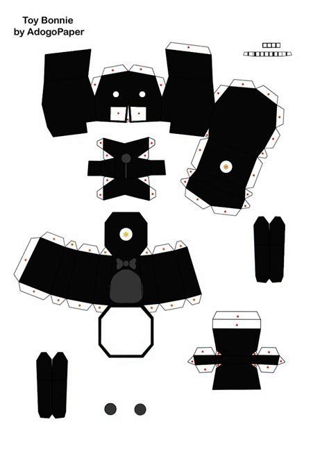 Shadow Papercraft - shadow bonnie papercraft update part1 by jackobonnie1983
