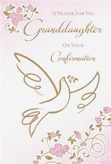Confirmation Greeting Card Template by Granddaughter Confirmation Card
