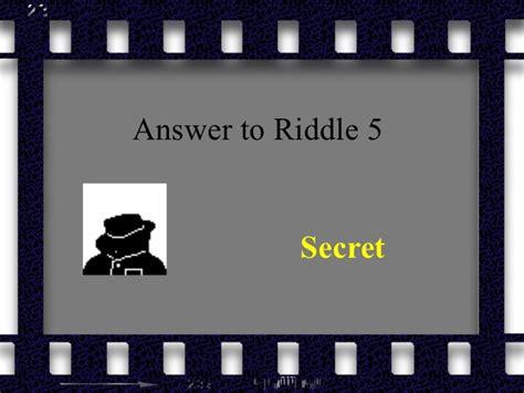 secret riddles 10 tricky riddles for the