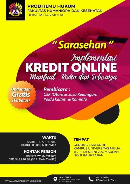 sarasehan implementasi kredit   fh universitas