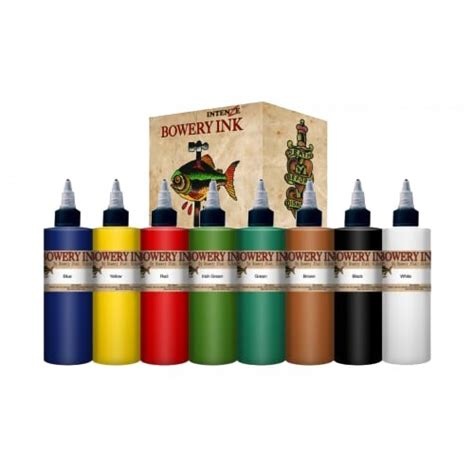 intenze tattoo ink sets intenze ink bowery set 1oz 8 colors
