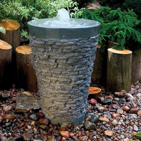 Backyard Waterfalls For Sale Stacked Slate Fountain Fountain Fiberglass Stone
