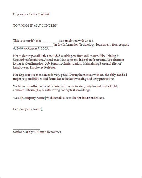 Work Experience Letter By Employer Best Photos Of Work Letter Sle Employment Verification Letter Sle Work Experience