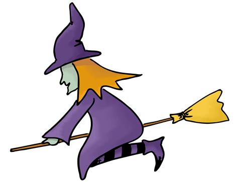 witch on broom clipart the cliparts