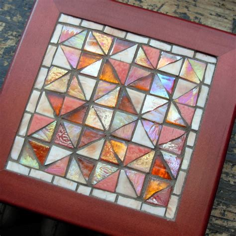mosaic pattern dishes broken dishes quilt pattern in glass mosaic by margaret