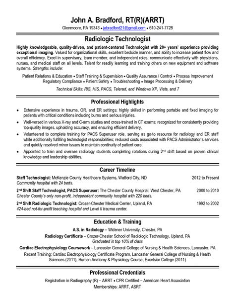 X Technician Resume by 8 X Tech Duties Duties Radiology Technician X Technician Education