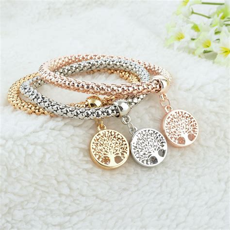 Gelang Color gelang wanita tree of 3pcs multi color