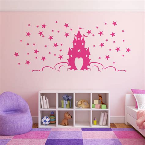fairytale princess castle wall stickers by parkins