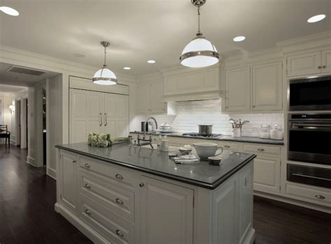 Gray Countertops With White Cabinets by White Kitchen Cabinets With Gray Countertops Transitional Kitchen Carole Freehauf