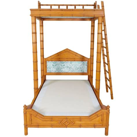 Platform Canopy Bed Frame Faux Bamboo Bed With Platform Canopy For Sale At 1stdibs