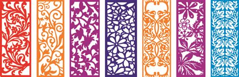 Partition Designs by Panel Boards 2d Vector Designs Files Used For Laser