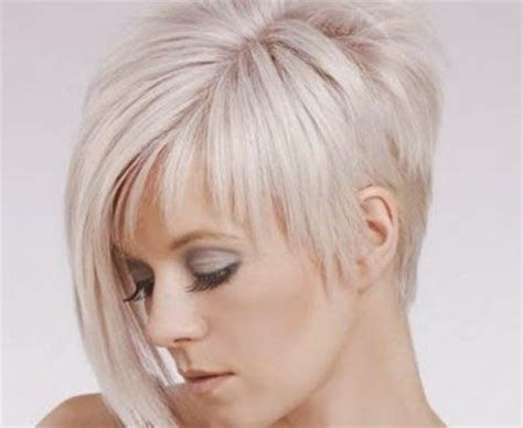 short hair with one side longer short haircuts for women over 50 front and back view