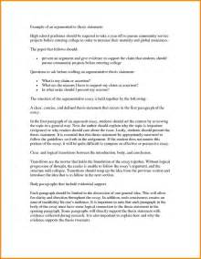 Exle Of An Essay by 9 Thesis Statement Essay Exle Statement 2017