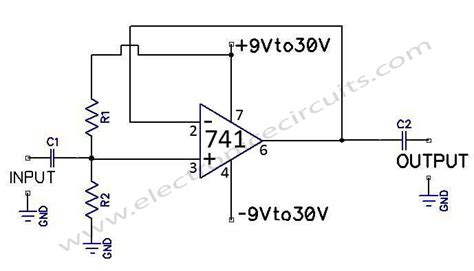 high input impedance capacitor coupled voltage follower 741 operational lifier electronic circuits part 3