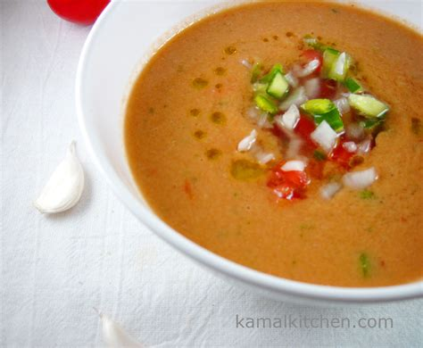 gazpacho cold spanish tomato soup recipe kamalkitchen