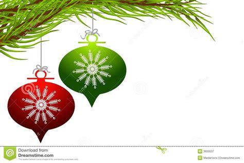 retro hanging christmas ornaments stock illustration