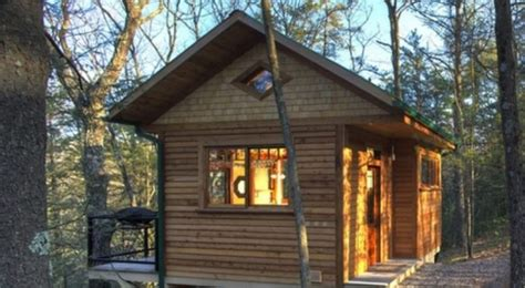 Cabins In Pennsylvania Mountains wood cliff tiny cabin with creek and tree top views