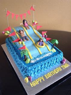water  cake  cute   pool party  water park party