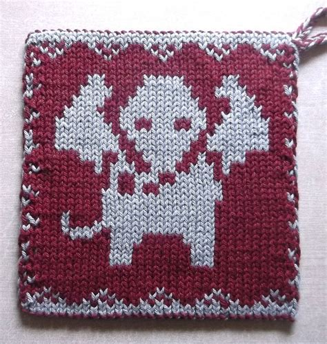 pattern holder knitting free knitting pattern for elephant pot holder double