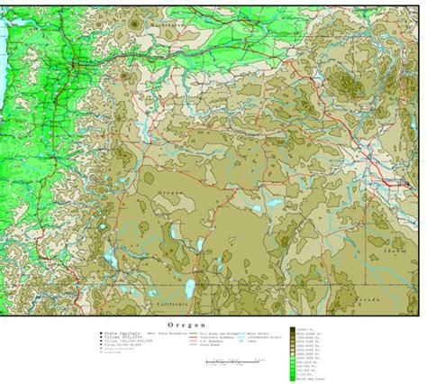 topographical map oregon oregon elevation map