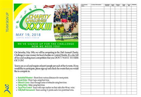 challenge inc team checklist packet charity challenge inc