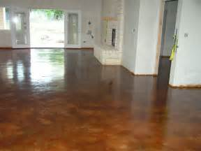 stained concrete floor home design