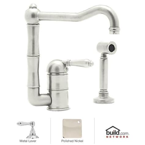rohl kitchen faucet parts rohl a3608lmws 2 polished nickel country kitchen low lead