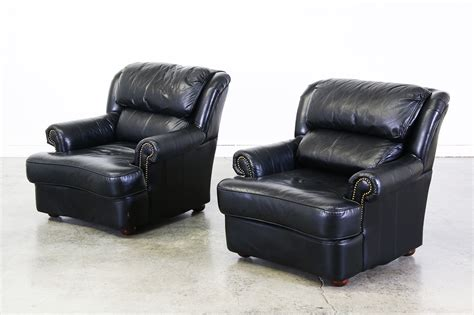 Black Leather Club Chair by Vintage Black Leather Club Chairs Vintage Supply Store
