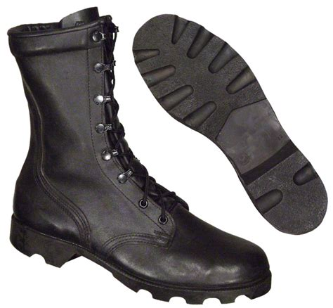 leather combat boots armygear net new black leather combat boots vulcanized size 11 regular