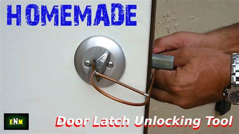 Door Knob Unlock Tool diy door lock latch unlocking tool