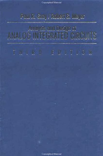 analysis and design of analog integrated circuits by razavi analysis and design of analog integrated circuits by paul r gray american book warehouse