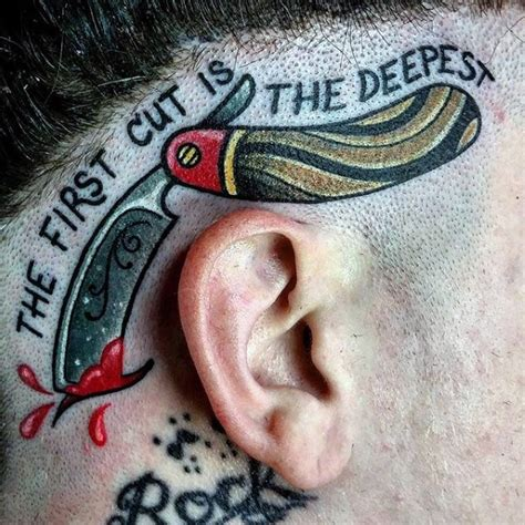 razor tattoo 100 barber tattoos for masculine design ideas
