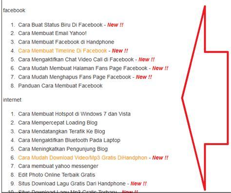 cara membuat abstrak ta cara membuat daftar isi blog berdasarkan label otomatis
