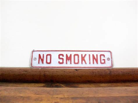 no smoking sign metal pin by northbound salvage on our finds pinterest