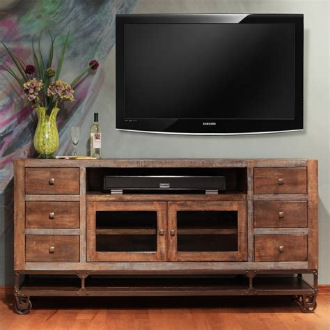 artisan home urban gold  solid wood tv stand suburban