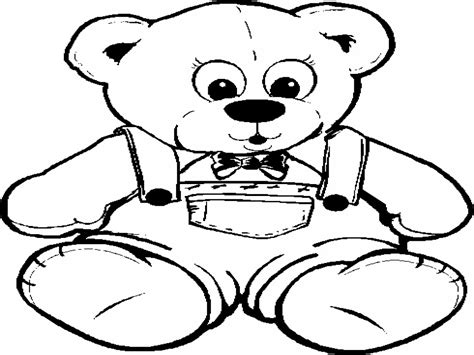 teddy bear coloring cute pages color page grig3 org