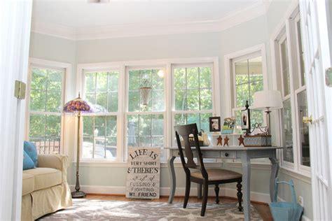 serene sunroom eclectic home office birmingham
