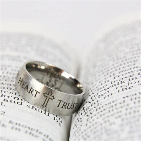 Bible Verses On Wedding Rings by Scripture Verse Rings