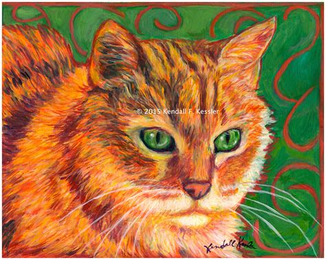 Cat Acrylic kendall kessler lives to paint blue ridge parkway artist